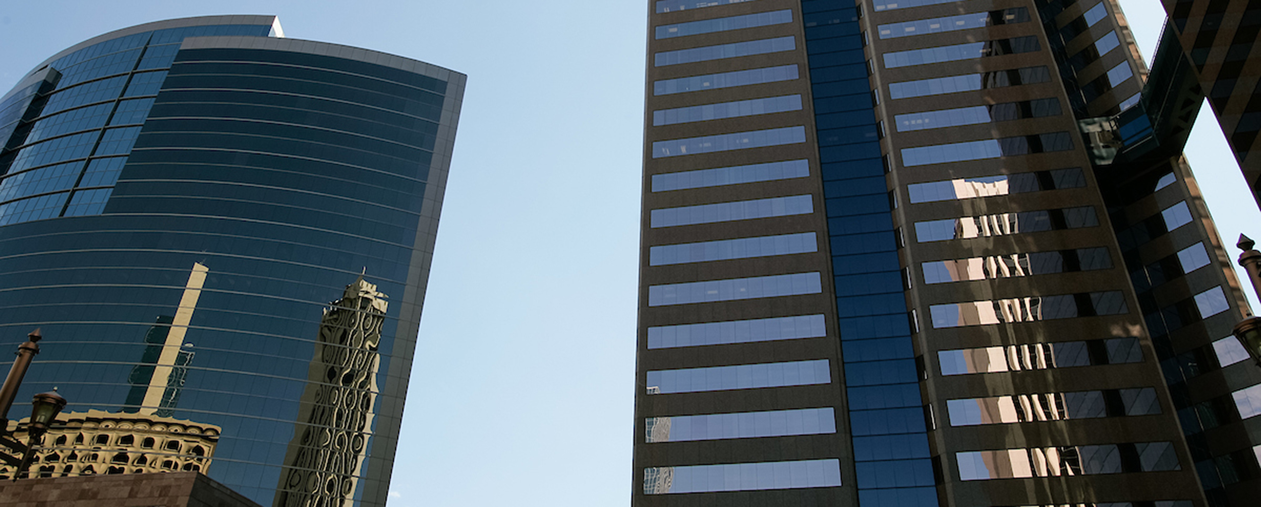 Photo of building exteriors in downtown Phoenix