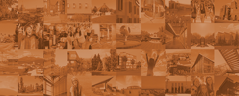 Photo collage of university life images
