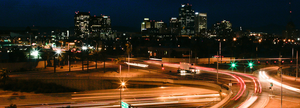 Phoenix at night